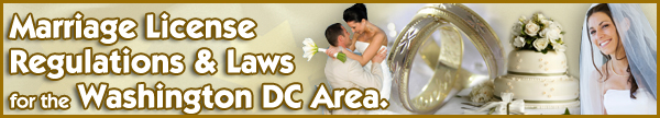 Marriage License Regulations and Laws for DC