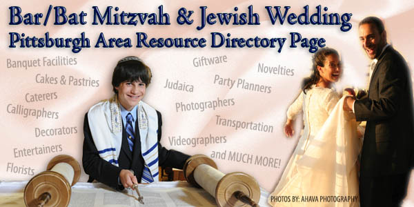 Bar/Bat Mitzvah and Jewish Wedding Pittsburg Resource Directory Page
